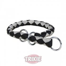 TRIXIE Collar Ajustable Cavo Negro Plata - L-XL