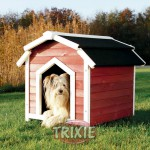 TRIXIE Caseta House Country, S–M, 71×69×75cm, Rojo-Blanco